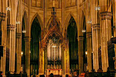 The Altar Of St. Patrick's Cathedral Poster by Jessica Jenney