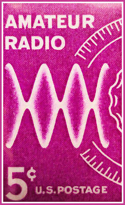 The Amateur Radio Stamp Poster by Lanjee Chee