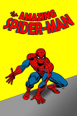 Poster featuring the painting The Amazing Spider-man by Antonio Romero
