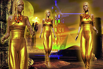 Poster featuring the digital art The Ancients  by Shadowlea Is
