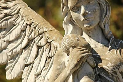 The Angel At St. Thomas Poster by Lynn Jordan