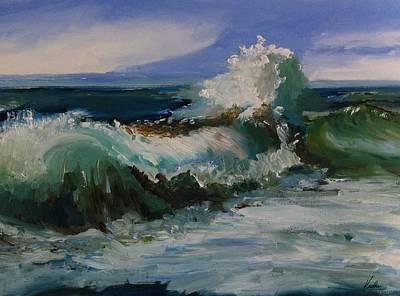 The Angry Sea At Nauset Beach, Cape Cod Poster by Viola Holmgren