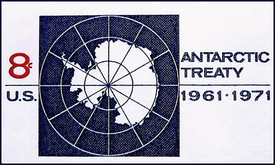 The Antarctic Treaty Stamp Poster