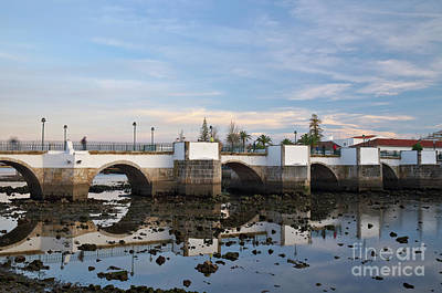 The Antique Bridge Of Tavira. Portugal Poster