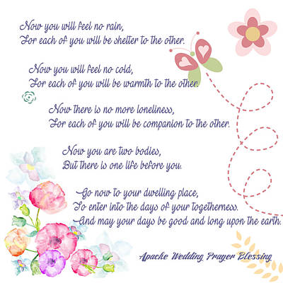 The Apache Wedding Blessing Poster