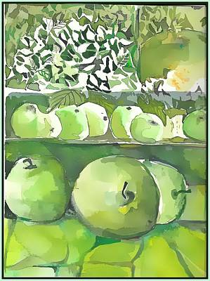 Poster featuring the painting The Apple Closet by Mindy Newman