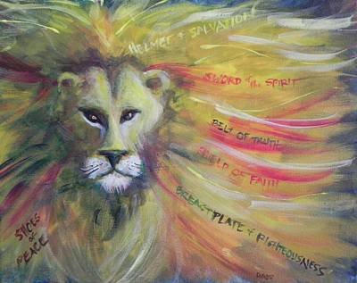 Poster featuring the painting The Armor Of God by Lisa DuBois