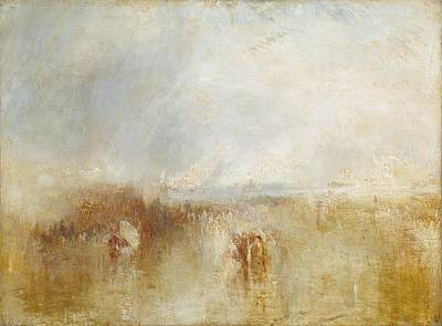 The Arrival Of Louis Poster by Joseph Mallord William Turner