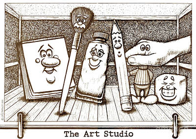 The Art Studio Poster by Cristophers Dream Artistry