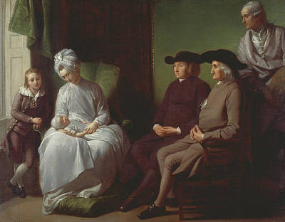 The Artist And His Family Poster by Benjamin West