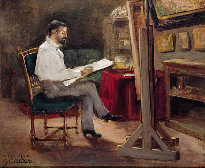 The Artist Morot In His Studio Poster by Gustave Caillebotte