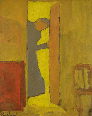 The Artist's Mother Opening A Door Poster