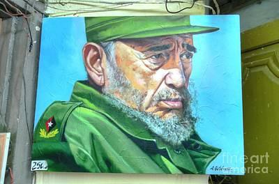 The Arts In Cuba Fidel Castro Poster by Wayne Moran
