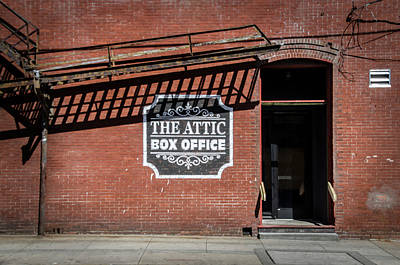 The Attic Box Office - Ybor City Tampa Florida Poster by Bill Cannon