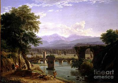 The Augustan Bridge On The Nera River Poster