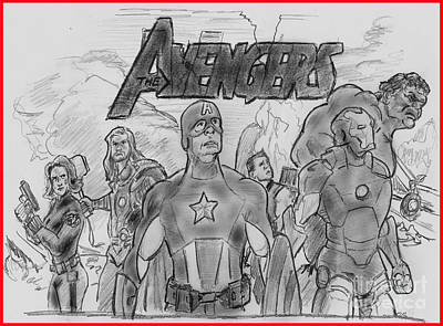 The Avengers Poster by Chris  DelVecchio