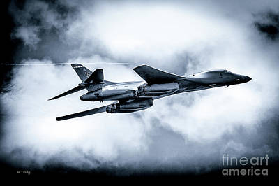 The B-1 Bomber Referred To As The Bone Poster by Rene Triay Photography