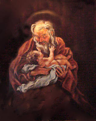 Poster featuring the painting The Baby Jesus - A Study by Donna Tucker