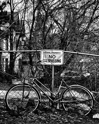 Poster featuring the photograph The Bad Bicycle No 2 by Brian Carson