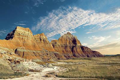 The Badlands Of South Dakota Poster by Tom Mc Nemar