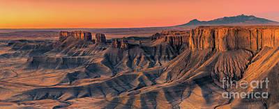 The Badlands Overview, Utah Poster
