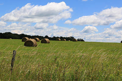 Poster featuring the photograph The Bales Of Summer 2 by Rick Morgan