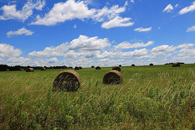 Poster featuring the photograph The Bales Of Summer by Rick Morgan