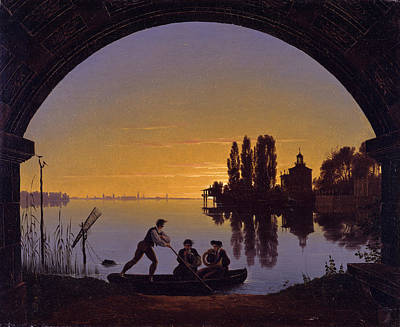 The Banks Of The Spree At Stralau Poster by Karl Friedrich Schinkel