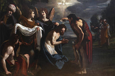 The Baptism Of Christ Poster by Emilio Savonanzi