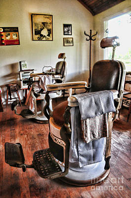 The Barber Chair Poster by Paul Ward