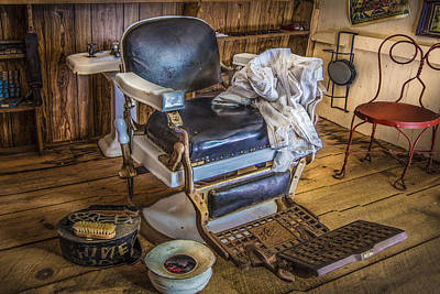 The Barber's Chair Poster by Debra and Dave Vanderlaan