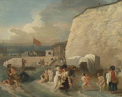 The Bathing Place At Ramsgate Poster by Benjamin West