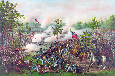 The Battle Of Atlanta, Poster by American School