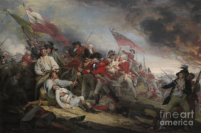 The Battle Of Bunker's Hill On June 17th 1775 Poster