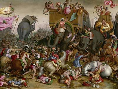 The Battle Of Zama Poster by Cornelis Cort