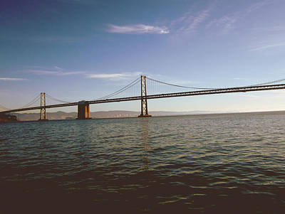 The Bay Bridge- By Linda Woods Poster