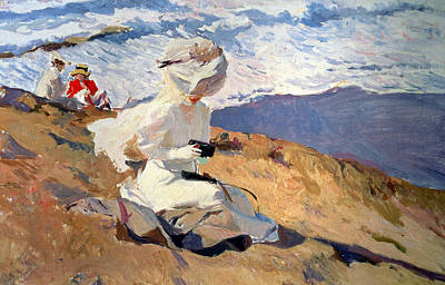 The Beach At Biarritz Poster by Joaquin Sorolla