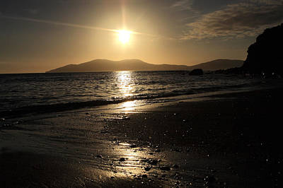 The Beach At Sunset On The Kerry Coast  Poster by Aidan Moran