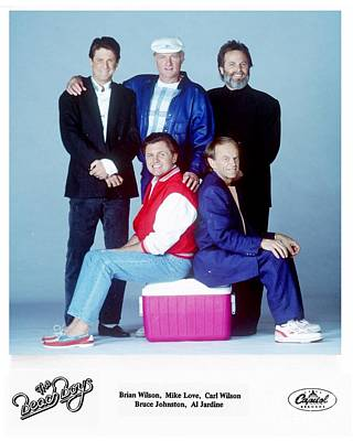 The Beach Boys 1989. Poster by The Titanic Project