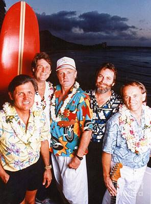The Beach Boys On The Beach 1986. Poster by The Titanic Project