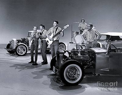 The Beach Boys Perform I Get Around On The Ed Sullivan Show Poster by The Titanic Project