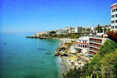 Poster featuring the photograph The Beach - Nerja Spain by Mary Machare