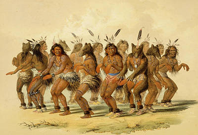 The Bear Dance Poster by George Catlin