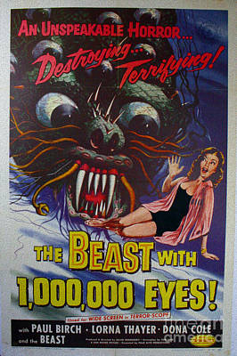 The Beast With A Million Eyes An Unspeakable Horror  Destroying Terrifying Movie Poster Poster by R Muirhead Art