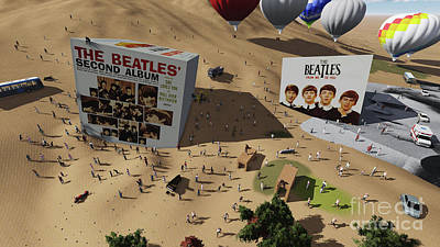 The Beatles Cube On Fans Poster