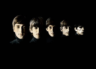 Poster featuring the painting The Beatles Destinies Fate by Iconic Images Art Gallery David Pucciarelli