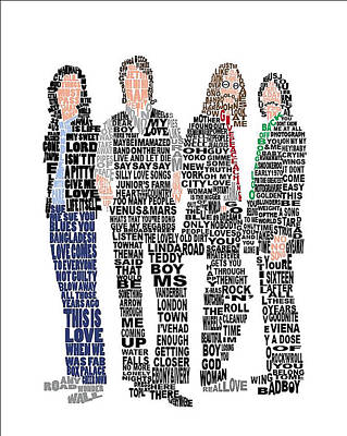 The Beatles  Poster by Gradea Lappin