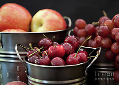 The Beauty Of Fresh Fruit Poster by Sherry Hallemeier