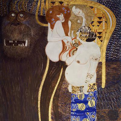 The Beethoven Frieze Poster by Gustav Klimt