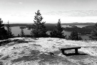 Poster featuring the photograph The Bench Atop Turtleback by Lorraine Devon Wilke